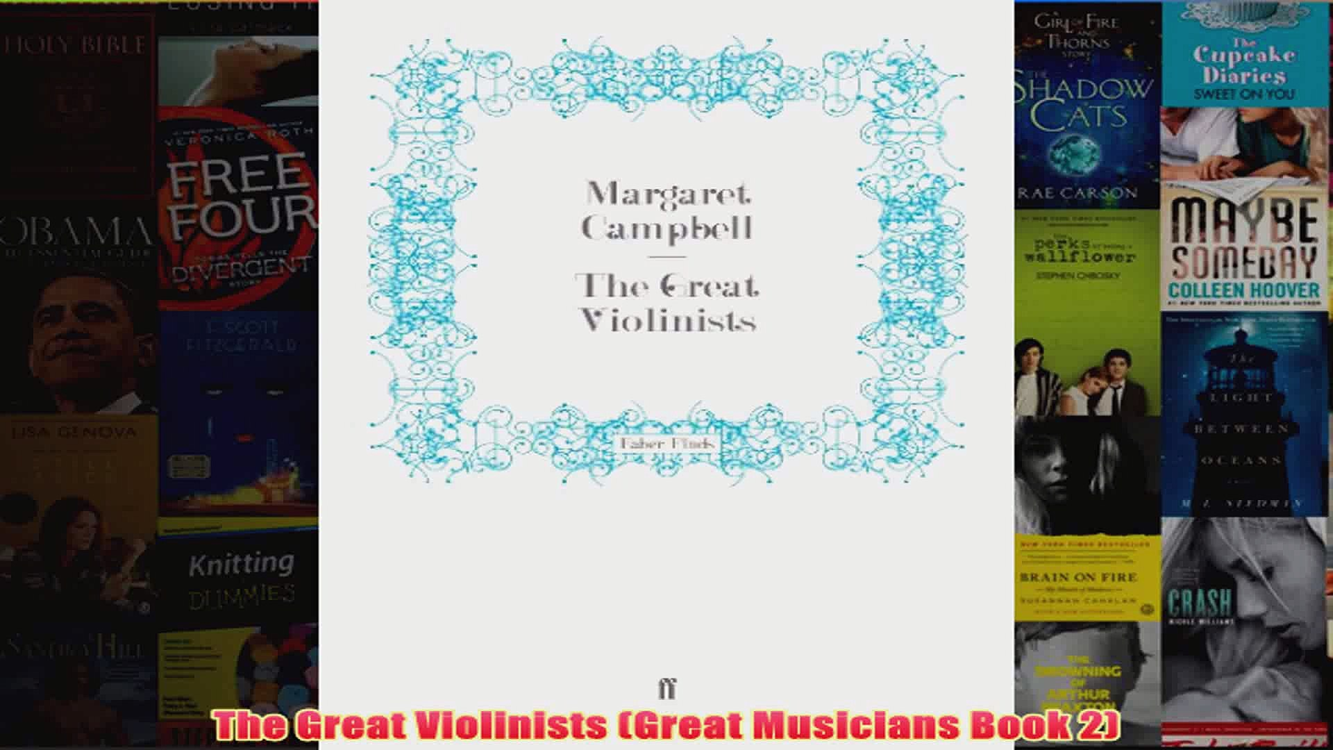 The Great Violinists Great Musicians Book 2