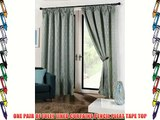 FULLY LINED CURTAINS 90 WIDE X 72 DROP DUCK EGG VERTICAL WAVES DESIGN PENCIL PLEAT TAPE TOP