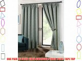 FULLY LINED CURTAINS 90 WIDE X 90 DROP DUCK EGG VERTICAL WAVES DESIGN PENCIL PLEAT TAPE TOP