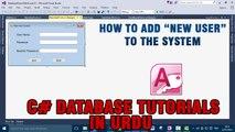 P(10) C# Access Database Tutorial In Urdu - New User Functionality