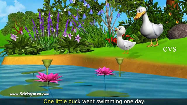 Five Little Ducks Went Out One Day – 3D Animation Five Little Ducks Nursery Rhyme for children