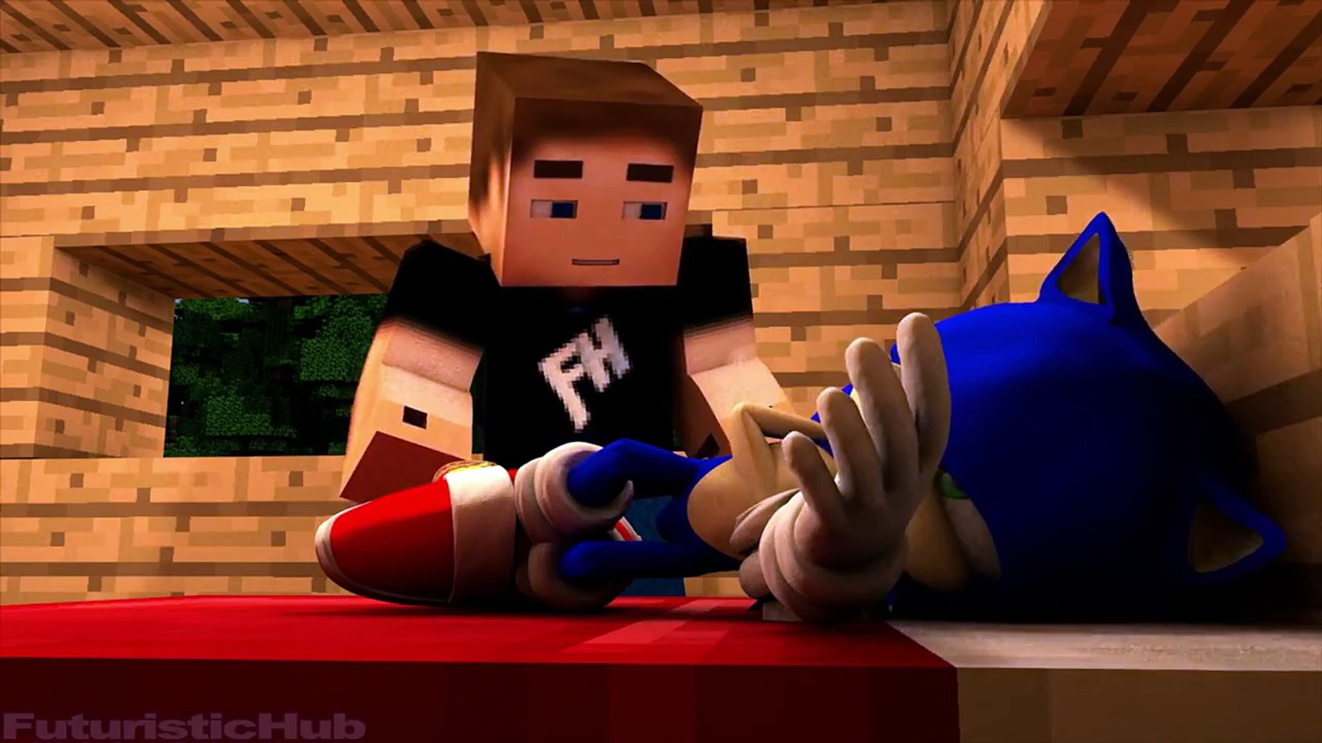 Sonic In Minecraft 3 3d Minecraft Animation Dailymotion Video