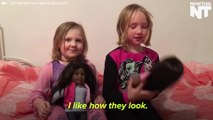 Mom Gives White Daughters Black Dolls