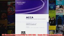 Read F1 Accountant in Business AB - Exam Kit (Acca Exam Kits