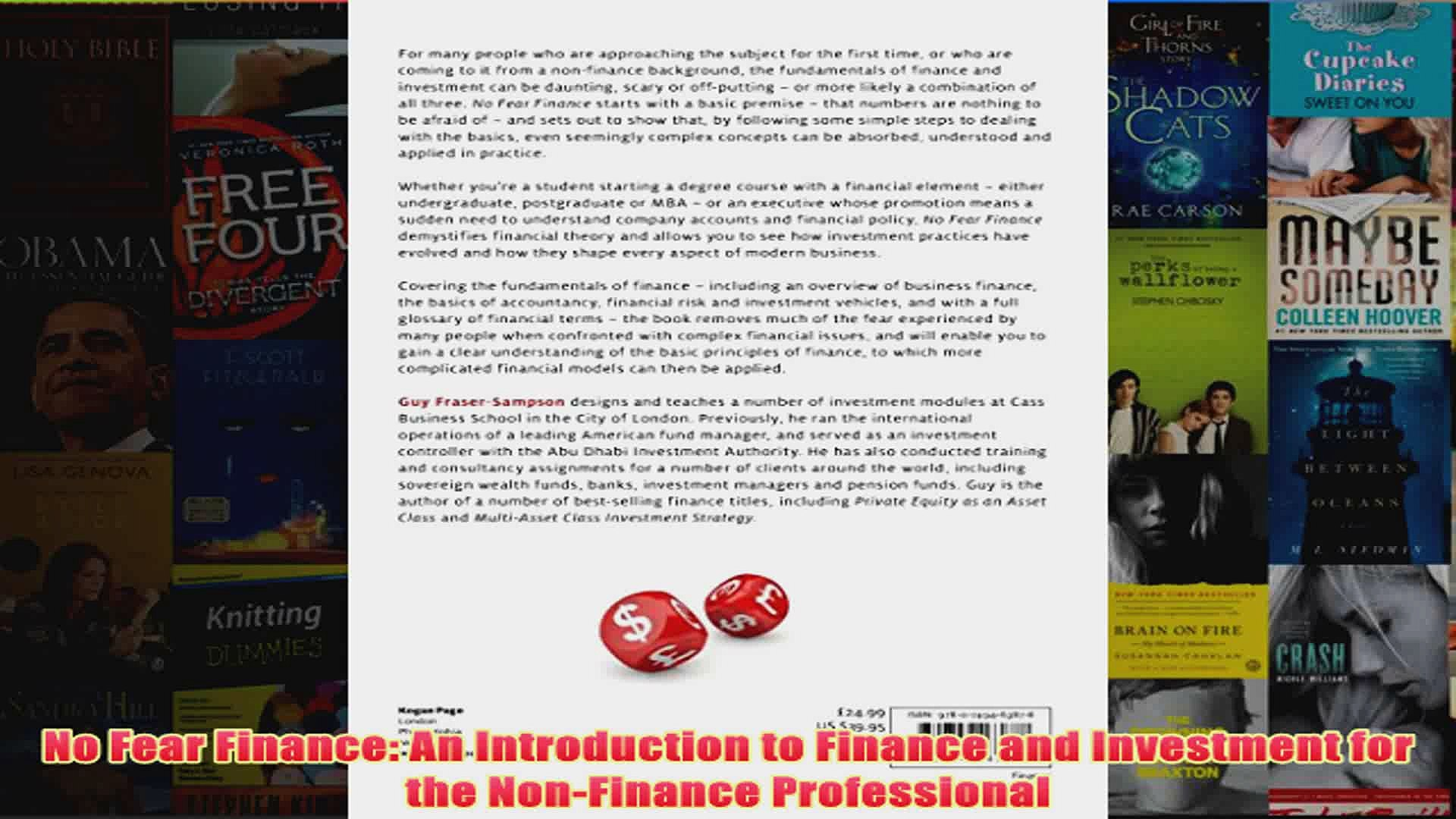 No Fear Finance An Introduction To Finance And Investment For The Nonfinance Video Dailymotion