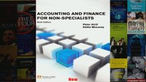 Accounting  Finance for Nonspecialists with MyAccountingLab