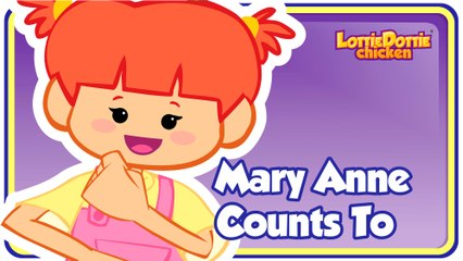 MARY ANNE COUNTS TO - Gallina Pintadita's ENGLISH SONG
