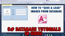 P(11) - C# Access Database Tutorials In Urdu - Save & load Images from database