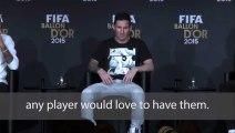 Ronaldo admits he wants Messi left foot