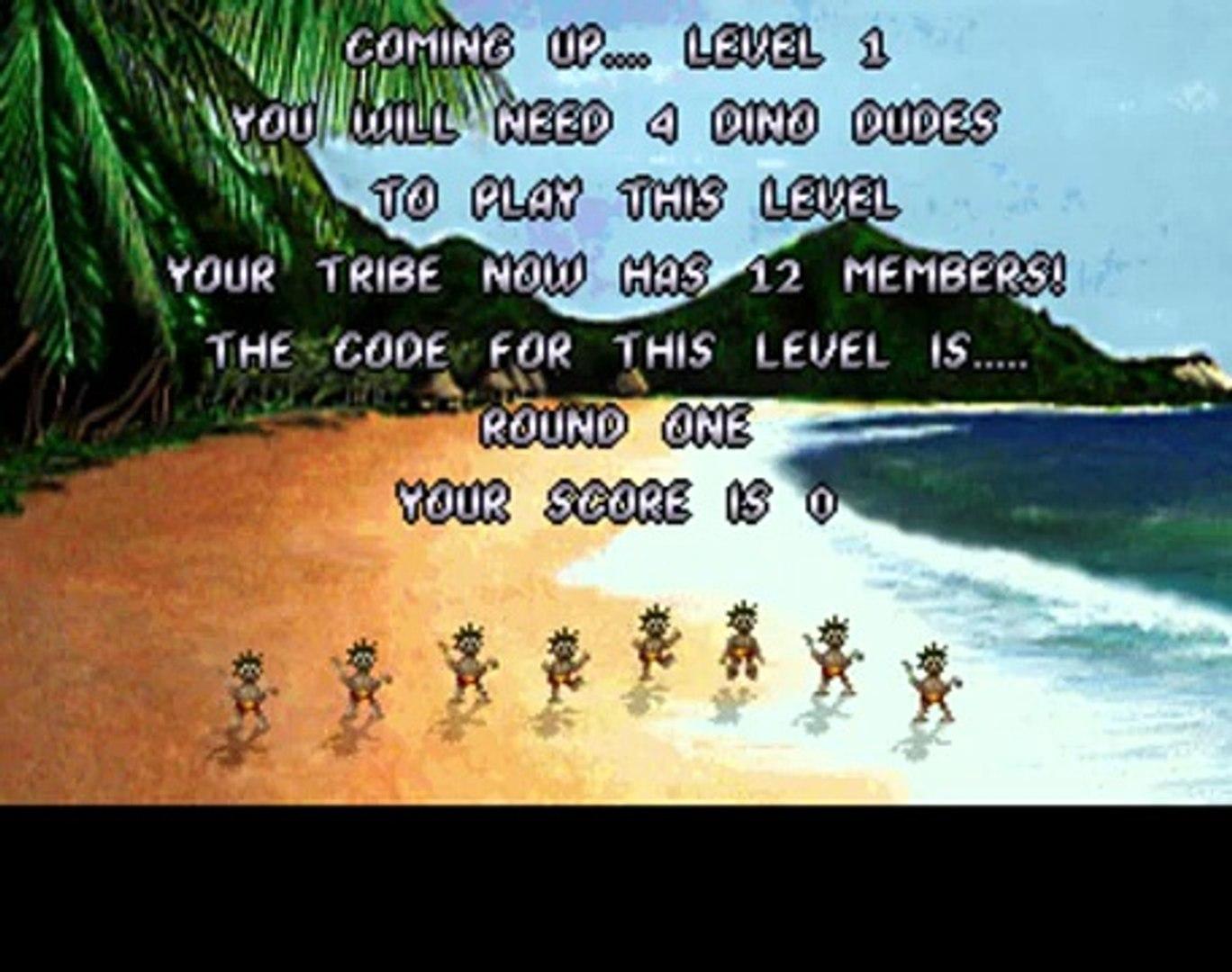 Evolution - Dino Dudes 1993 (Atari Jaguar) AKA The Humans
