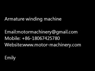 Winding machine WIND-STR demo for bus accessories armature motor