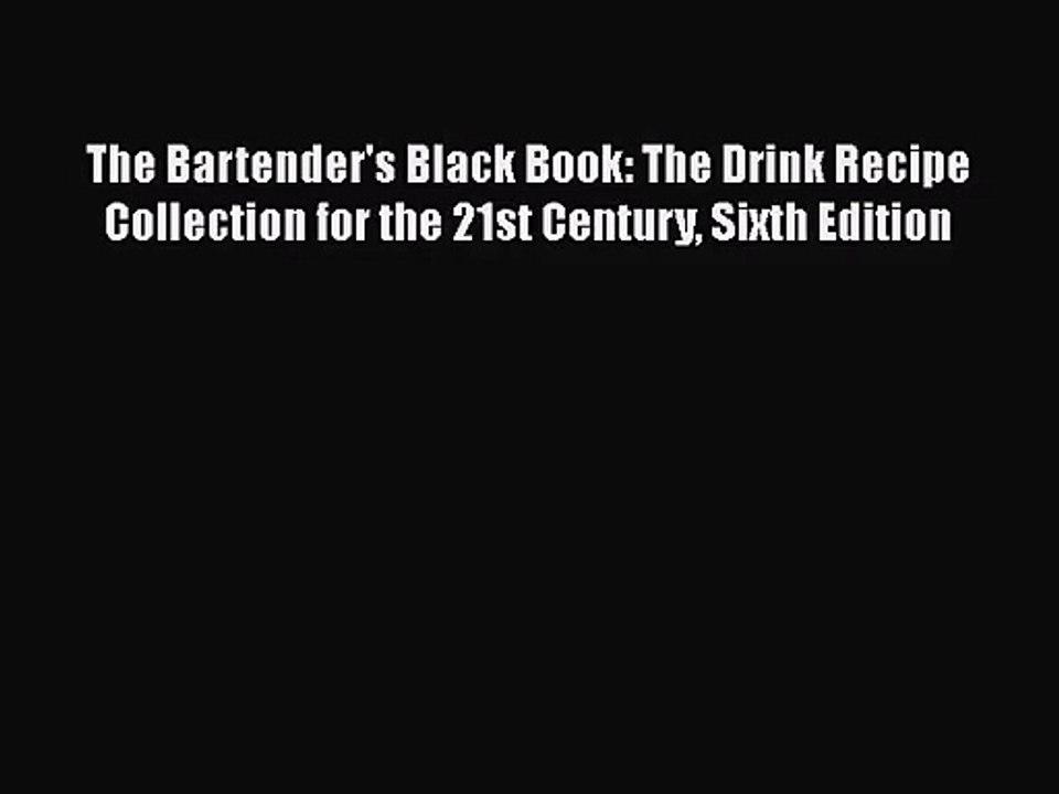 bartender black book free download pdf
