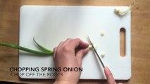 Chopping Spring Onion