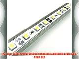COLOUR CHANGING LED AQUARIUM LIGHTS WITH WIRELESS CONTROLLER / ALUMINIUM RIGID BAR / TUBE LIGHT