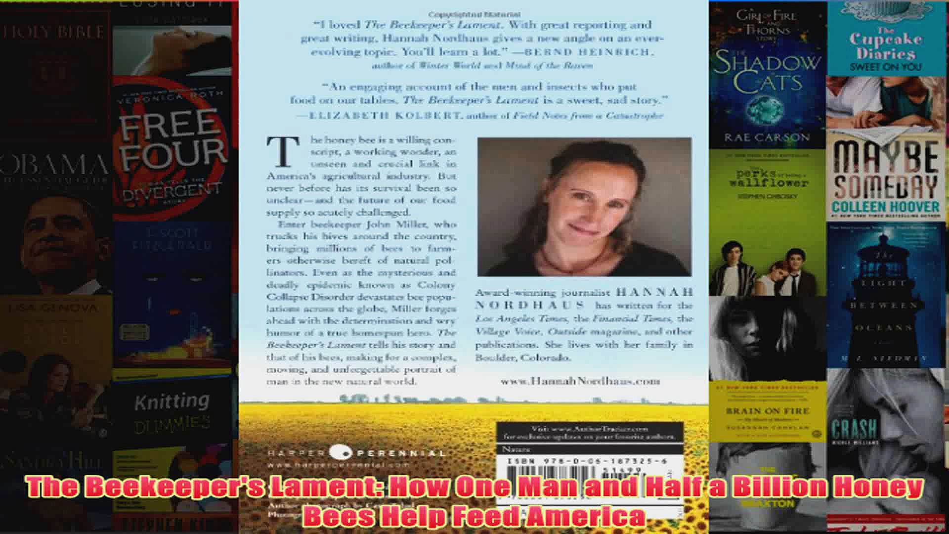 Download PDF  The Beekeepers Lament How One Man and Half a Billion Honey Bees Help Feed America FULL FREE