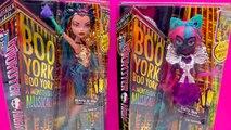 Monster High Boo York City Schemes Dolls Nefera de Nile and Catty Noir Video