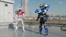 Kamen Rider Drive type Formula and Kamen Rider Mach type Dead Heat henshin