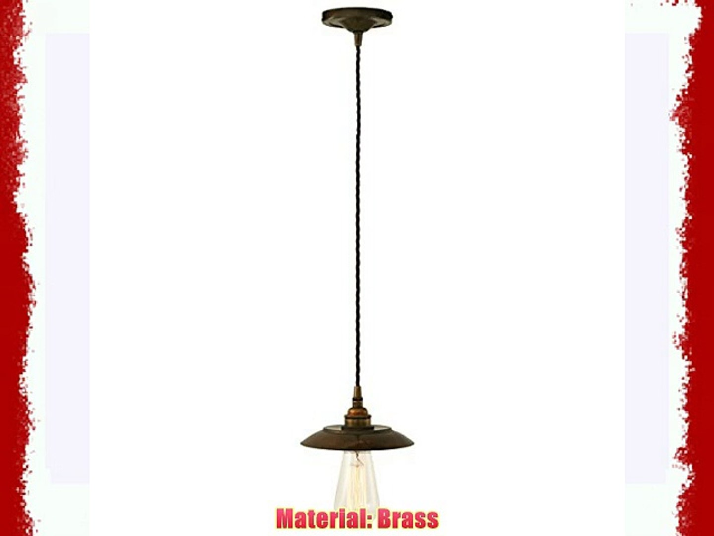 Lamp factory UK Reznor Industrial Pendant Light Antique Brass with  1Polished Brass or Polished