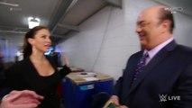 Stephanie McMahon, Vince McMahon and Paul Heyman Backstage Segment