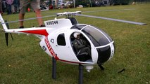 HUGHES 500 D GIANT SCALE RC TURBINE MODEL HELICOPTER FLIGHT / Turbine meeting 2016 *1080p5