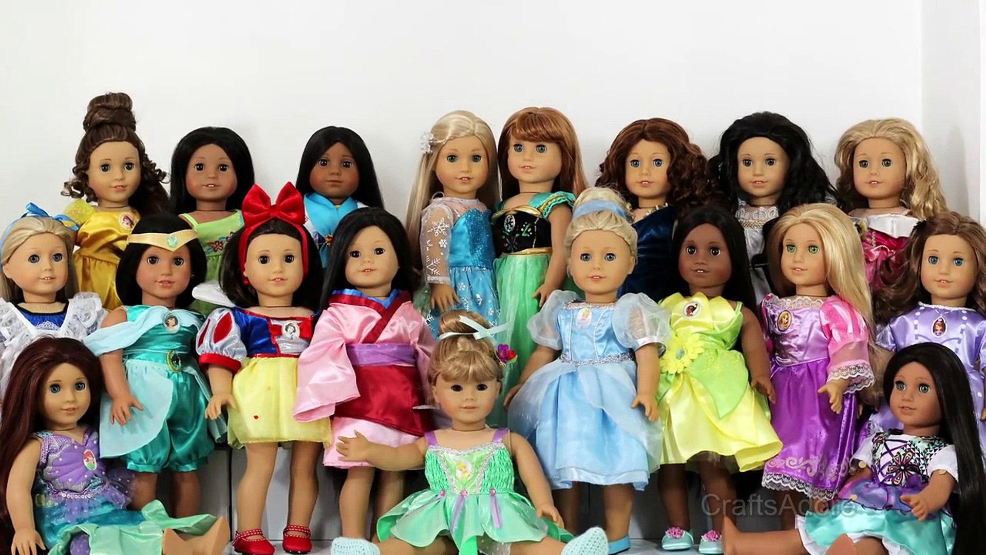 American Girl Dolls as All Disney Princesses ~ Custom American Girl Dolls ~AGSM~ UPDATED SQUAD