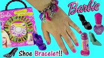 Barbie SHOE CRAZY Jewelry Kit! Make Bracelet & Necklace with Barbie SHOES! Pop Makeup!