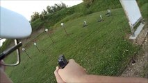 IDPA match shooting my 9 mm Glock 17 at the Hibbing Minnesota range stage 4