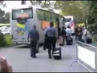 Undertaker leaving Hotel