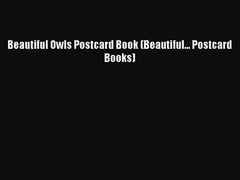 Beautiful Owls Postcard Book (Beautiful... Postcard Books) [PDF Download] Online