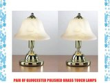 PAIR OF GLOUCESTER POLISHED BRASS TOUCH LAMPS