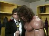 WWF Survivor Series 1988 - The Ultimate Warrior Bonus Post-Match Interview