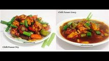 Chilli Paneer Dry and Chilli Paneer Gravy Recipe-How to Make Chilli Paneer- Paneer Chilli
