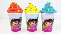 Play Doh Glaces Dora LExploratrice Surprise Glaces Helados Dora La Exploradora Jouet Vidéos