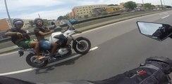 Deux voleurs font tomber un motard à 150 km/h sur l'autoroute