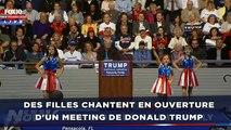 Malaise: Des filles chantent en ouverture d'un meeting de Donald Trump