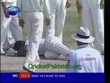 Sarwan getting an unplayable Yorker from Umar Gul. Amazing fast swinging Yorker Umar Gul to Sarwan. Rare cricket video