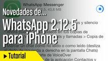 Novedades WhatsApp 2.12.5 para iOS