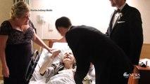 Surprise pour une grand-mère sur son lit d'hopital