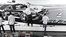 Dibujo con cinta aislante del Mercedes AMG GT