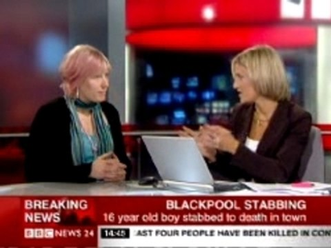 Stephanie Booth on BBC NEWS 24 (recorded version)