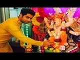 Salman Khan's Bigg Boss 9 Contestant Ankit Gera Ganpati Celebration At Home With Family