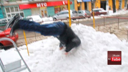 World's First & Last Snow Diver. Stupid people
