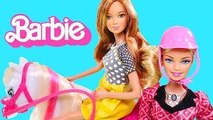 Barbies Remote Control Train & Ride Horse --- Barbie Doll Training Pony Toy Unboxing