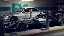 Anuncio del Mercedes C350 con Hamilton y Rosberg