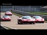 Ferrari F40, F50, Enzo y LaFerrari todos juntos