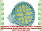 10X GU10 Dimmable 4W LED Cool White 24 Pieces High Power 5050 SMD 50W Brightness 330 Lumens
