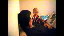 Baby and daddy moments babies playing singing and laughing with their daddies