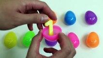 Lære å Telle Overraskelse Egg og Lære Farger | Pedagogiske Barnas Overraskelse Leketøy Video!
