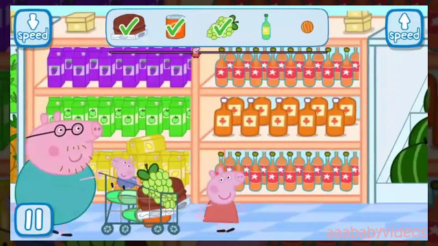 Peppa Pig Shopping | Full Game play | Best iPad app demo for kids
