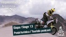 Stage / Etape 13 –  Touristic postcard  / Carte postale touristique